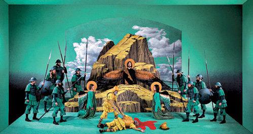 Для спектакля «Страсти Христовы» строятся красочные декорации