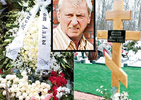 Могила Евгения Борисовича на Кузьминском кладбище утопала в цветах