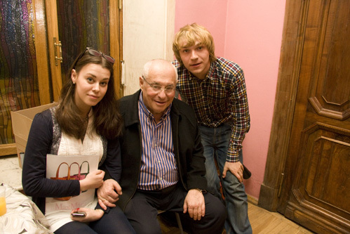 Дочь юбиляра Саша с отцом и мужем Дмитрием БУРУКИНЫМ