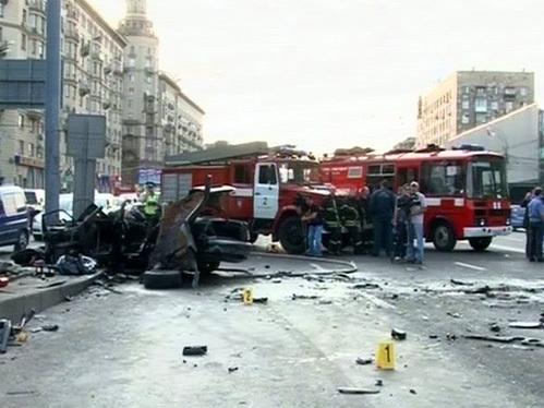 Смертельного ДТП на Садовом кольце, жертвами которого стали до пяти человек (фото ru-vederko.livejournal.com)