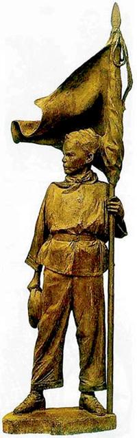 Памятник Павлику МОРОЗОВУ в Москве