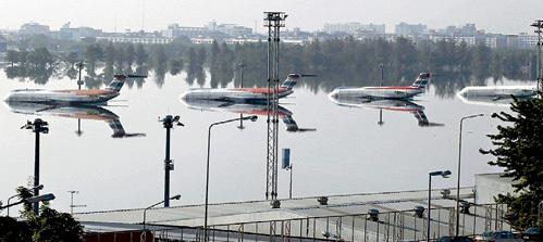 Аэропорт в Бангкоке был затоплен