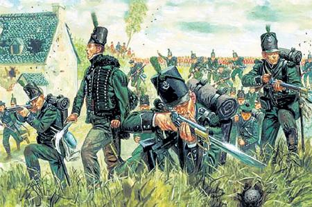 ...и присоединился к остаткам армии лишь во время отступления