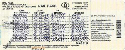 Билет на десять поездок действует в пределах страны
