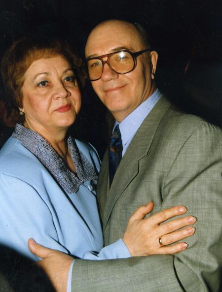 Леонид КУРАВЛЁВ с женой Ниной. Фото Ларисы КУДРЯВЦЕВОЙ.
