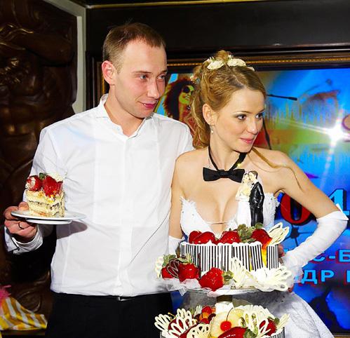 С женой Ксенией