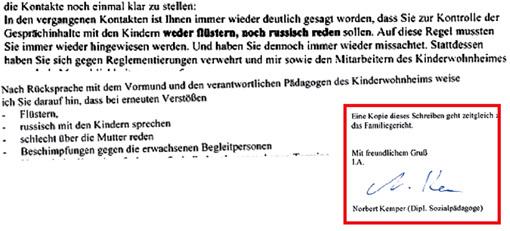 В официальном письме МЕДВЕДЕВУ напоминают, что, встречаясь с детьми в приюте, он не должен с ними шептаться и говорить по-русски