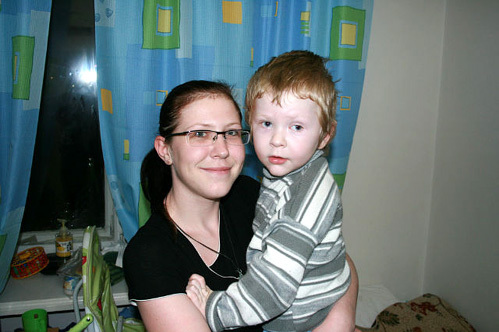 Костик Юров с мамой Ириной