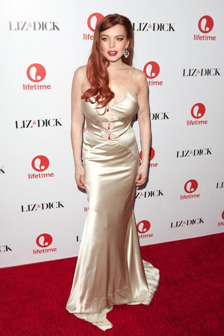 Линдси Лохан явилась на премьеру фильма об Элизабет Тейлор ...  Линдсей Лохан