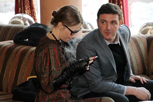 Ксения СОБЧАК и Максим ВИТОРГАН (фото Бориса КУДРЯВОВА)