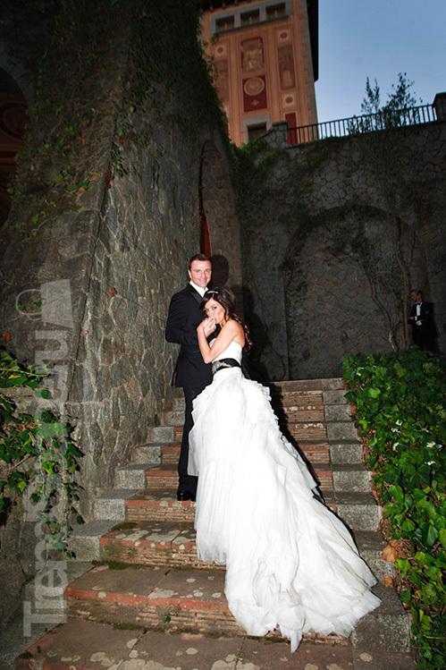 Свадьба Антона и Яны прошла в Барселоне.