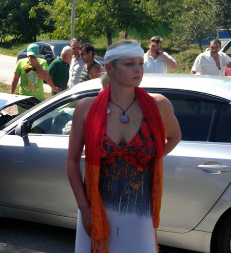 Анастасия ВОЛОЧКОВА во время ДТП в июне прошлого года
