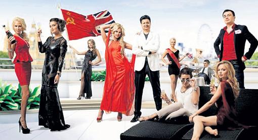 Заставка к сериалу «Познакомьтесь с русскими». Многих удивляет, почему британский флаг скрестили с советским, а не российским