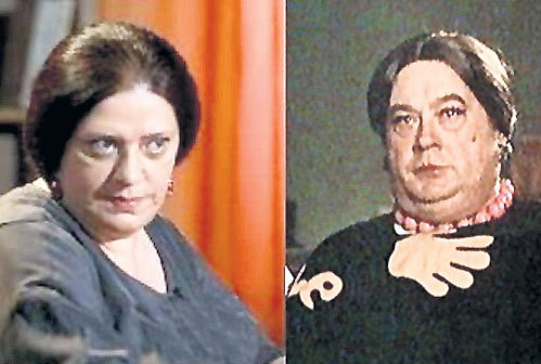 ...и даже с Евгением МОРГУНОВЫМ в образе дамы из фильма «Морские рассказы»!