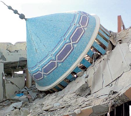 Первой снесли мечеть в городе Занго