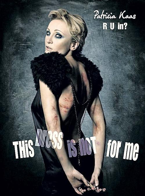 Несколько лет назад Патрисия КААС с художественно изображенными синяками и ссадинами на руках снялась для социальной рекламы «Скажи «нет» насилию в семье»