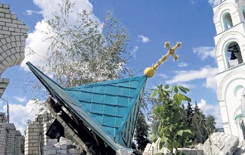 Храм Святого Серафима Саровского, разрушенный бандеровцами под Славянском