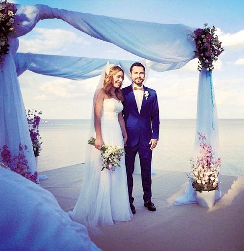 Андрей и Настя отпраздновали свадьбу...