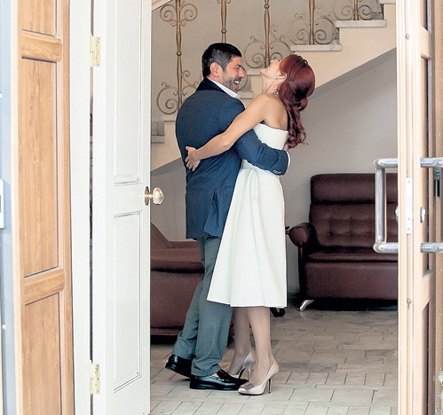 Валерий и Эльмира пять лет встречались, прежде чем пойти в загс