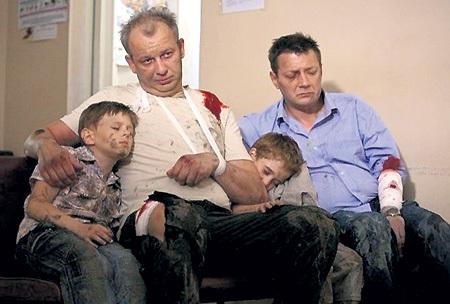 С Дмитрием МАРЬЯНОВЫМ в криминальной драме «Отцы»
