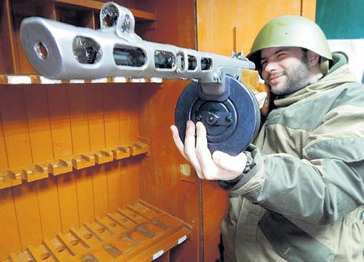 ППШ и сейчас активно используется ополченцами на Украине. Фото: Vk.com
