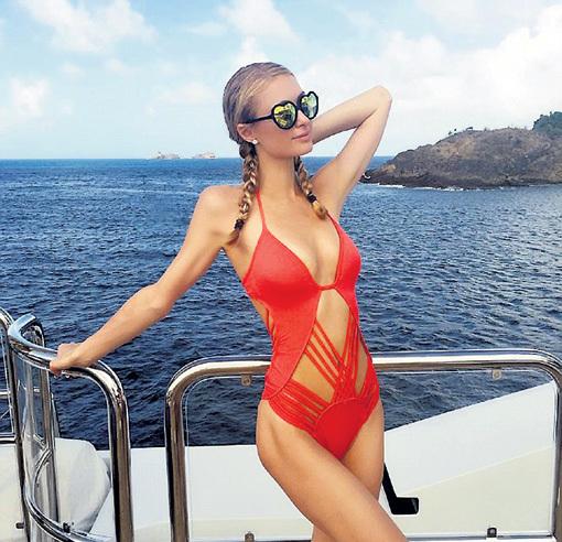 Пэрис отдохнула на яхте, не воспользовавшись гостеприимством ни одного из 540 отелей своего семейства