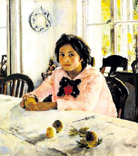 Для хрестоматийной «Девочки с персиками» художнику позировала Веруша МАМОНТОВА (1887)