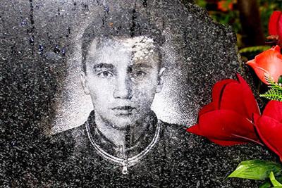 Мемориальная плита Григория ГЕНЕРАЛОВА. Фото с сайта athletics-club.ru
