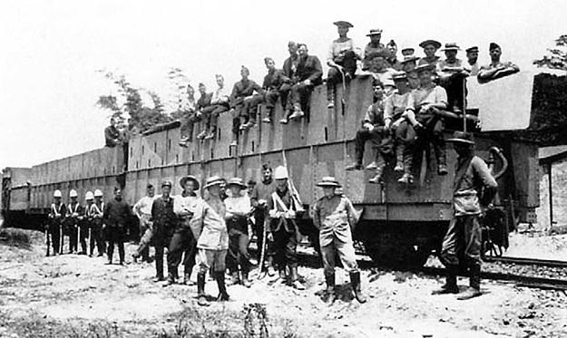 Британцы с помощью бронепоездов давили сопротивление свободолюбивых буров