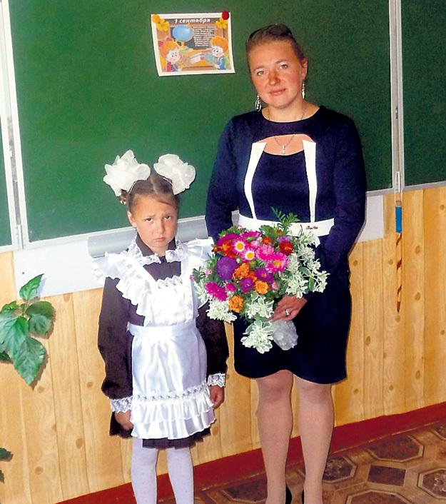 ...и Лидия с ней же два года назад в Курской области