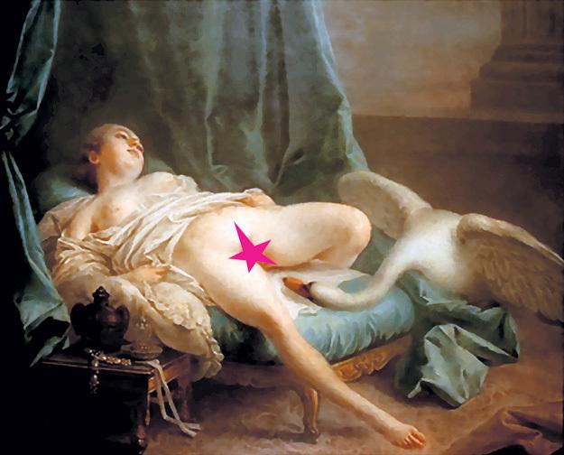 «Леда и лебедь» кисти французского живописца Франсуа БУШЕ не могла оставить творческого человека равнодушным