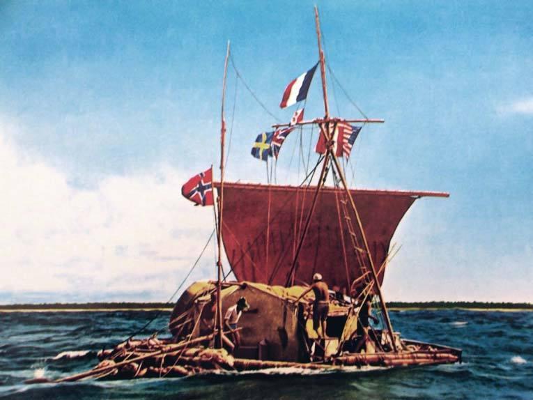 «Кон-Тики» во время плавания. Фото: Википедия