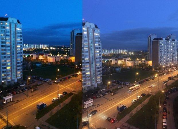 Слева - Xiaomi MiMix, справа - iPhone 6s