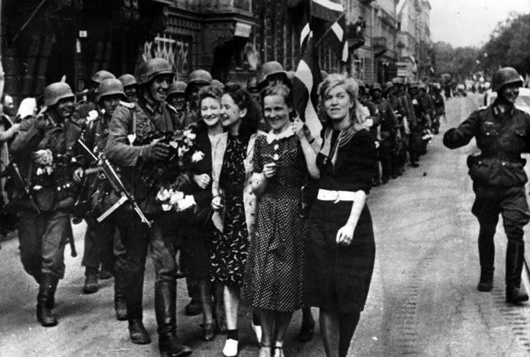 Германские войска в Латвии. 1941 год. Фото: Bundesarchiv