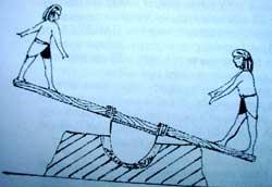 ЕГИПЕТСКОЕ НОУ - ХАУ: 1. На качелях трут породу