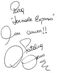Автограф для &#034Экспресс газеты&#034