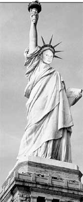 НОВЫЙ ПРОЕКТ СТАТУИ СВОБОДЫ: благодарный американский народ заменит ее лицо на физиономию Казакова и по праздникам будет возлагать к подножию стеклотару