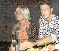 НАТАША И АЛЕКСАНДР: на вечеринке в клубе «Миллиардер» выглядели озабоченными