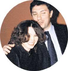 ... с папой Борисом Немцовым...