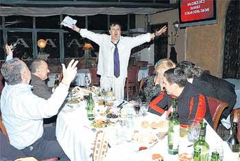 ПИР ГОРОЙ: грузинские друзья чествовали высокого гостя
