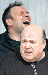 С КАЛЯГИНЫМ: репетируют &#034Смерть Тарелкина&#034