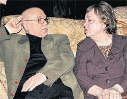 ЛЕОНИД ВЯЧЕСЛАВОВИЧ: с любимой супругой Ниной Васильевной (Фото Василия Глушкова).