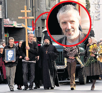 Сын Каспарс возглавил погребальную процессию