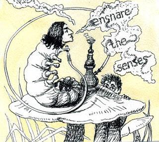 Карикатура: Алан РИКМАН в роли гусеницы