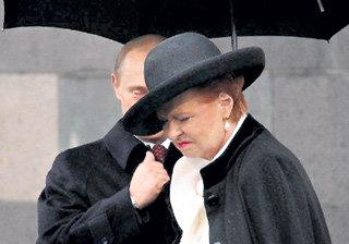 Госпожа ФРЕЙБЕРГА после встречи с Владимиром ПУТИНЫМ пребывала не в лучшем настроении (фото ИА REGNUM)