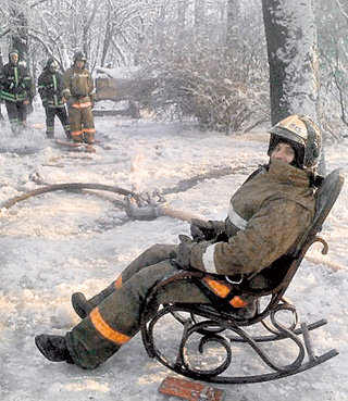 Музейное кресло-качалка, облюбованное огнеборцами, исчезло вместе с ними