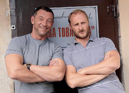 С Максимом ДРОЗДОМ на съёмках «Русского дубля»