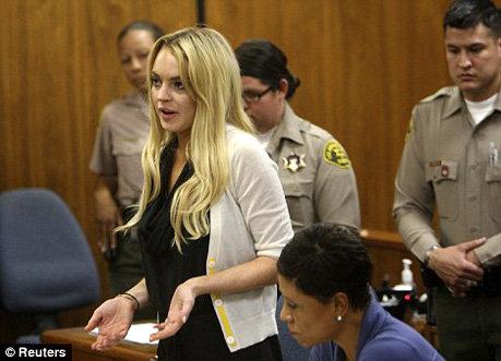 Линдси обещала быть пай-девочкой, но судья ей не поверила