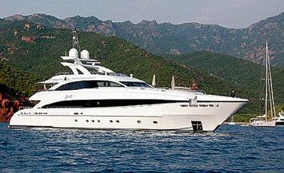 Яхта ФЕДЕРЕРА могла бы поднять пиратский флаг «Веселый Роджер»