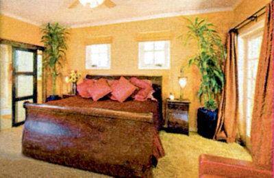 Самое большое помещение - хозяйская спальня